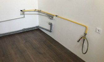 Reconstruction of gas pipeline in flat with stainless-steel GAS PROFI pipe and GAS PROFI hose