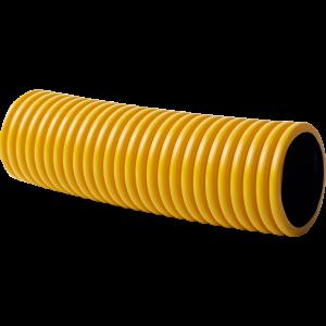 KOPOFLEX® – Flexible doublecoated corrugated pipe (yellow), length 50 m, outside/inner diameter 50/41 mm