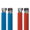 "Connecting set Merabell Aqua Flexi R1/2""-G1/2"" 30-60cm - 2pcs hose (blue, red)"