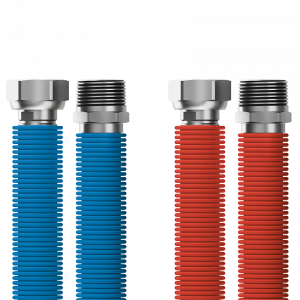 "Connecting set Merabell Aqua Flexi R3/4""-G3/4"" 30-60cm - 2pcs hose (blue, red)"