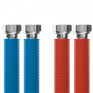 "Connecting set Merabell Aqua Flexi G1/2""-G1/2"" 30-60cm - 2pcs hose (blue, red)"