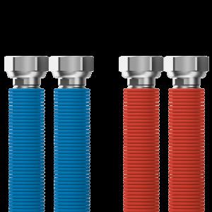 "Connecting set Merabell Aqua Flexi G3/4""-G3/4"" 30-60cm - 2pcs hose (blue, red)"