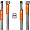 "Merabell Aqua hose, mixing taps, G3/8""–M10x1 long thread – 2 pcs + aerator"
